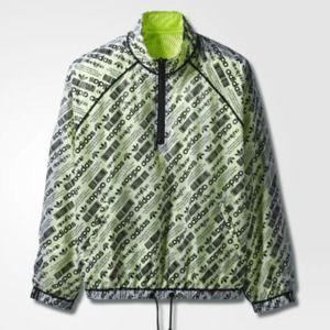 Adidas AW Windbreaker Jacket White Black Syello